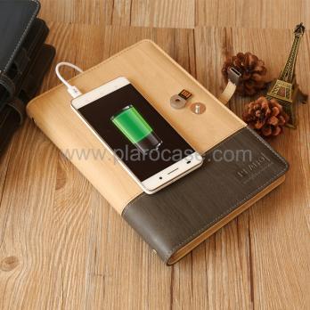 Ежедневник с зарядкой и usb флешкой формата A5